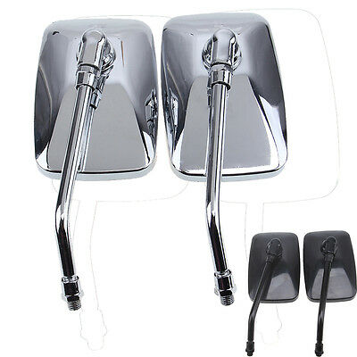Motorcycle Billet Aluminum 10mm Rear View Side Mirrors Convex For Honda Harely