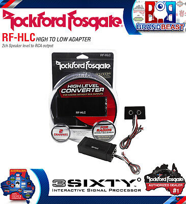 Rockford Fosgate Rf-Hlc 2-Channel High-To-Low Level Signal Converter Rca Speaker