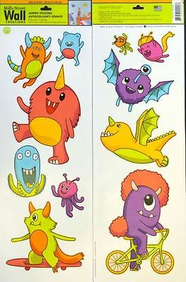 Wall Decals For Kids Room Friendly Monsters Removable Wall Decor Playroom Fun