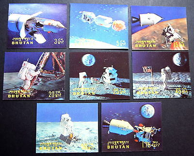 Bhutan Space Stamps (8) - 3 Dimensional ... Mint