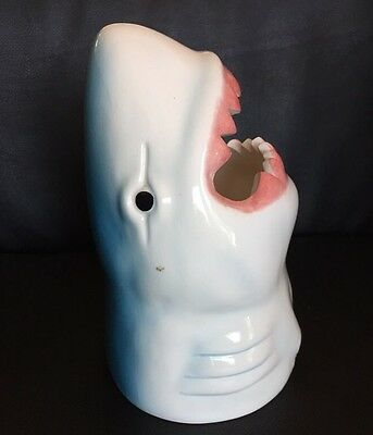 """Ceramic Sharks Head With Open Mouth For Placing? Says """"Sams"""" On It. Great White"""