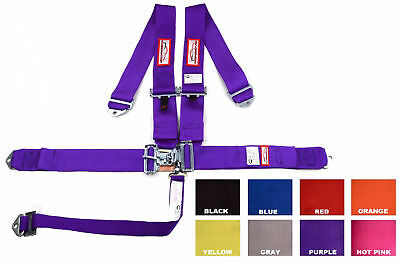 "Racing Harness 5 Point Sfi 16.1 Roll Bar Mount 3"" Purple Or Any Color"