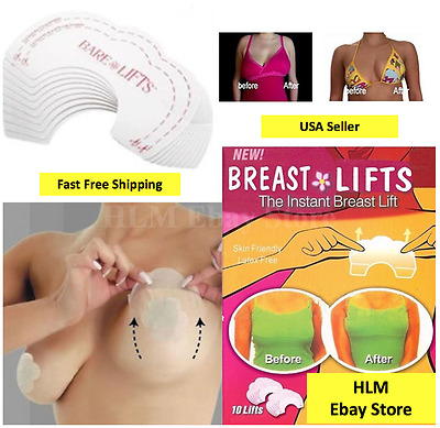 10-50pcs Bare Lift Instant Breast Lift Invisible Support Bra Shaper Push Up Tape