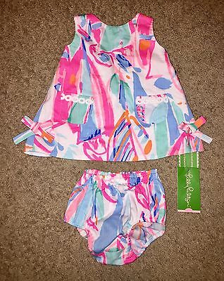 BRAND NEW! Lilly Pulitzer Baby Girl Lilly Shift Dress 3-6 MONTHS Infant Summer