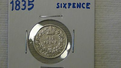 1835 Great Britain Six Pence Silver