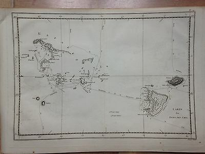 POLYNESIA TONGA ISLANDS 1778  by James COOK ORIGINAL COPPER ENGRAVED MAP