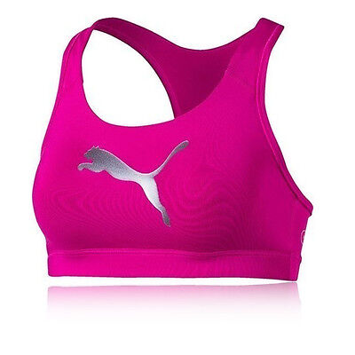 Puma PWRSHAPE Forever Womens Pink Running Sports Bra Support Top