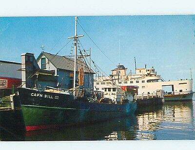 Pre1980 STEAMER NANTUCKET BOAT AT WOODS HOLE Falmouth MA r8993