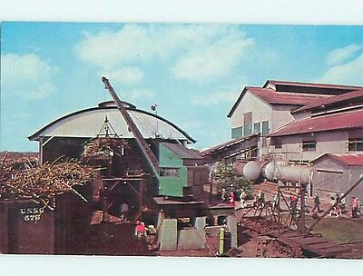 Unused Pre-1980 CRANE WORKING AT SUGAR CANE RECEIVING STATION Clewiston FL r9434