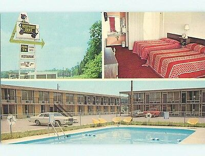 Unused 1980's OLD CARS & SCOTTISH INN MOTEL Athens Tennessee TN s2859