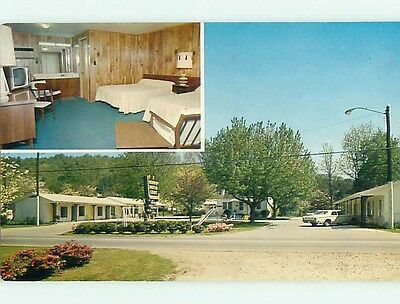 Unused Pre-1980 OLD CARS & MURPHY MOTOR COURT MOTEL Murphy NC s3832