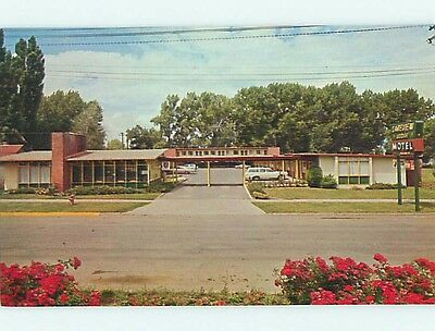 Unused Pre-1980 OLD CARS & LAKEVIEW LODGE MOTEL Lakeview Oregon OR s6224