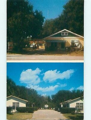 Unused 1950's CHAUNCEY'S COURT MOTEL Clearwater Florida FL s5499