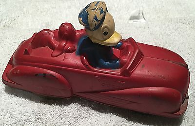 Vintage 1940's Donald Duck & Pluto Sun Rubber Co. Car