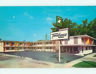 Unused Pre-1980 OLD CARS & TRAVELODGE MOTEL Greeley Colorado CO s7081