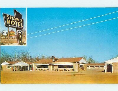 Pre-1980 SHAWS MOTEL & RESTAURANT East Savannah Tennessee TN s8179