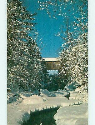 1954 Covered Bridge State Of Vermont VT t8601
