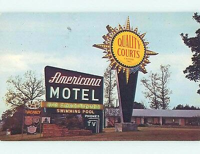 Pre-1980 AMERICANA MOTEL Wilmington North Carolina NC s7530