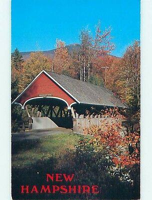 1994 Covered Bridge Franconia Notch New Hampshire NH t8602
