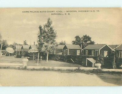 Divided-Back CORN PALACE AUTO COURT HOTEL CABINS Mitchell SD t2985