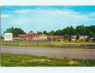 1950's OLD CARS & CARLTON COURT MOTEL & RESTAURANT Lumberton NC s8281