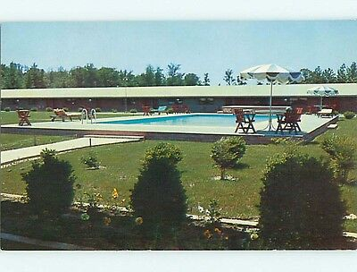 1950's REDWOOD MOTOR LODGE MOTEL Lumberton North Carolina NC s9280