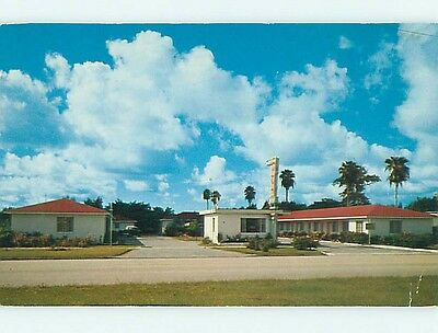 1950's PLUMOSA MOTEL Clearwater Florida FL s9367