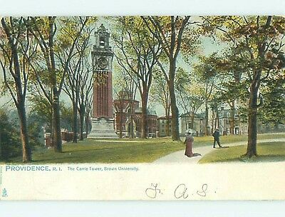Pre-1907 CARRIE TOWER AT BROWN UNIVERSITY Providence Rhode Island RI t3623