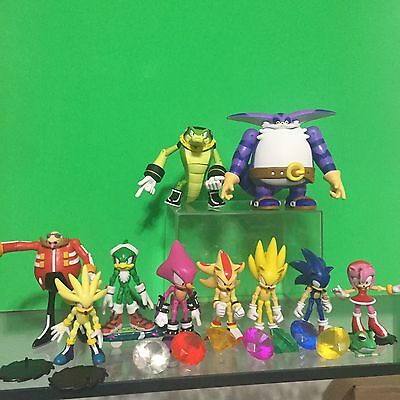Sonic The Hedgehog Jazwares Lot With Chaos Emeralds