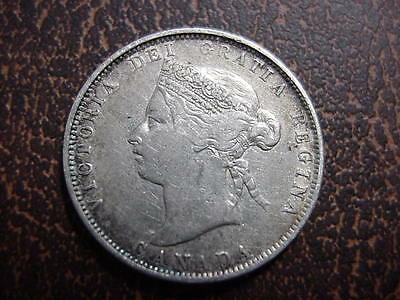 1872 H Canada 25 Twenty Five Cent Silver Quarter Nice Vf Coin Better Date Nr !!!