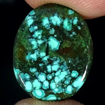 5.40Cts.SUPER 100% NATURAL TIBET TURQUOISE OVAL CABOCHON UNTREATED GEMSTONE