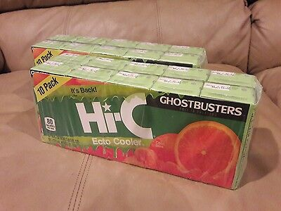Hi-C Ecto Cooler Reissue Limited Release 10 PACK X2 GHOSTBUSTERS good until MAY