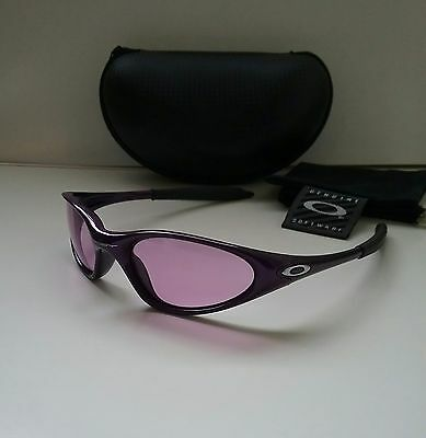 oakley minute sunglasses  OAKLEY MINUTE Vintage 1.0 Purple w/ Violet Iridium Sunglasses ...