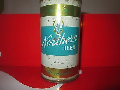 NORTHERN 12 oz DIFFICULT. FLAT TOP COLLECTIBLE BEER CAN. SUPERIOR, WI. 1960