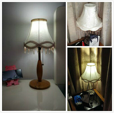 Home Fabric Lamp Shade for Table Floor Beaded Lampshade Vintage Victorian Modern