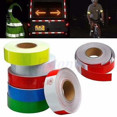 25M Reflective Safety Warning Conspicuity Tape Film Sticker Multicolor Truck Car