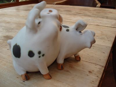 Pottery Pair of Pigs