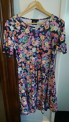 Asos Maternity Floral Skater Dress with 1/2 sleeve Print size 12