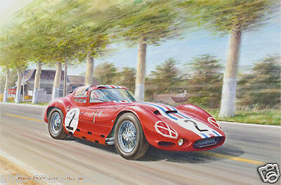 Affiche Poster 24H 24 Heures Hours Du Le Mans Hunaudieres Maserati 151 ★1963★