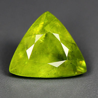1.61 Cts_World Class Very Rare Gemstone_100 % Natural Green Sphene_Russia