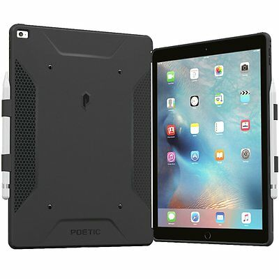 Poetic QuarterBack Stylish PC+TPU Case For iPad Pro 12.9 with Pencil Holde Black