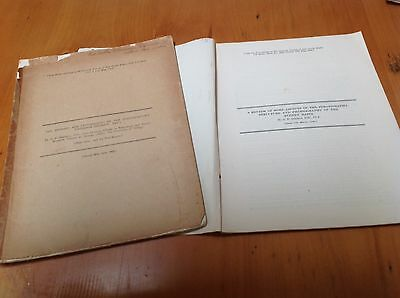 2 Rare Booklets:- 1.  On Geology Of The Paterson District 2.  The Sydney Basin.