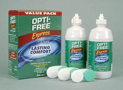 Opti Free Express Value Pack 2 x 355ml Multi Purpose Disinfecting Solution New