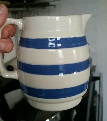 Staffordshire Blue White milk jug