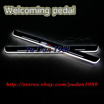 2pcs LED front door scuff plates Welcoming pedal For Audi A3 / S3 2014-2015
