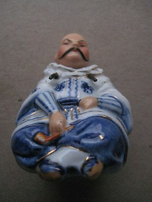 Chinese Blue and White Rocking Head Figurine, c1900