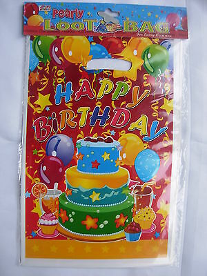 10 Brand New Birthday Party  Loot Gift Bags, Cake