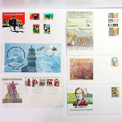 Vintage Collectable Australia Post Envelope Letters 1980s, Lot of 9