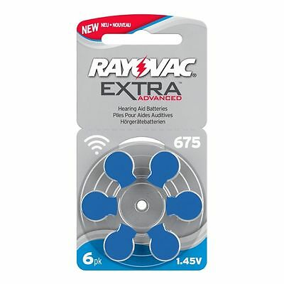 Rayovac 675 Size Hearing aid Batteries Mercury Free x60 cells Expires 2022