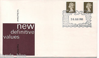 GB Stamps 26-1-1981 New Definitive Issue First Day Cover WINDSOR BERKS h/s